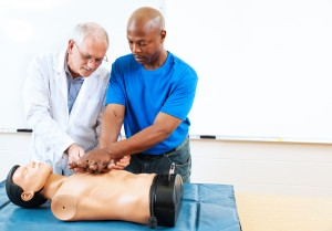 Image of Man Performing Hands Only CPR